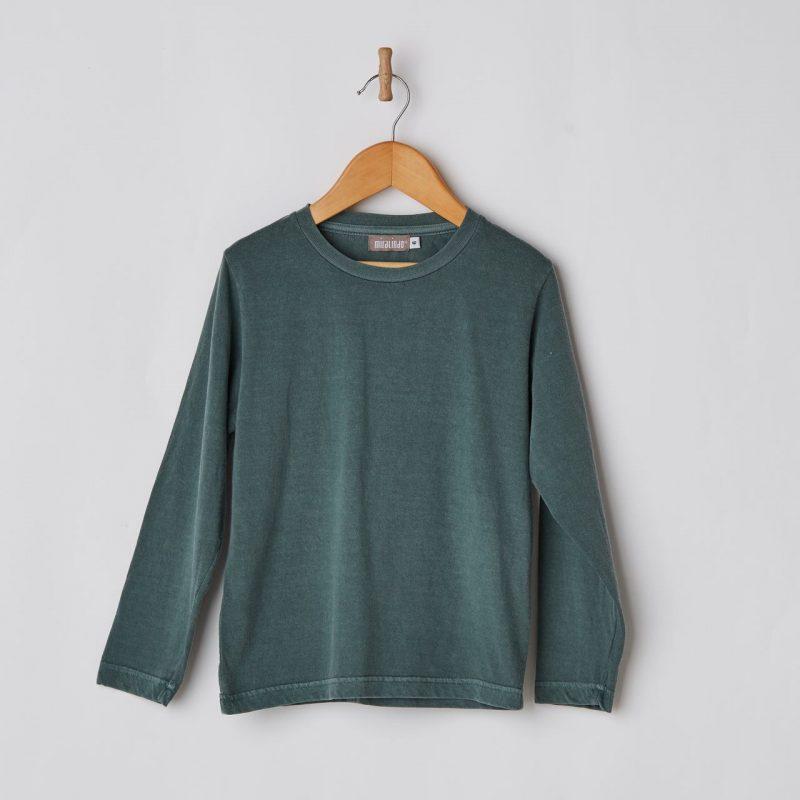 Camiseta básica de niño de color verde diferente y de algodón.