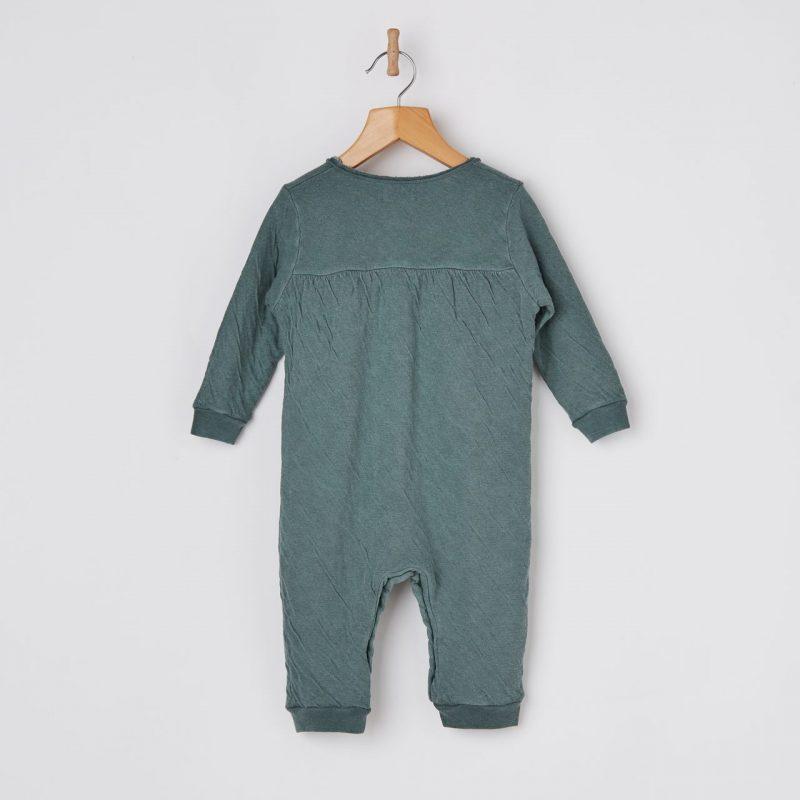 Body de bebé algodón de color verde.
