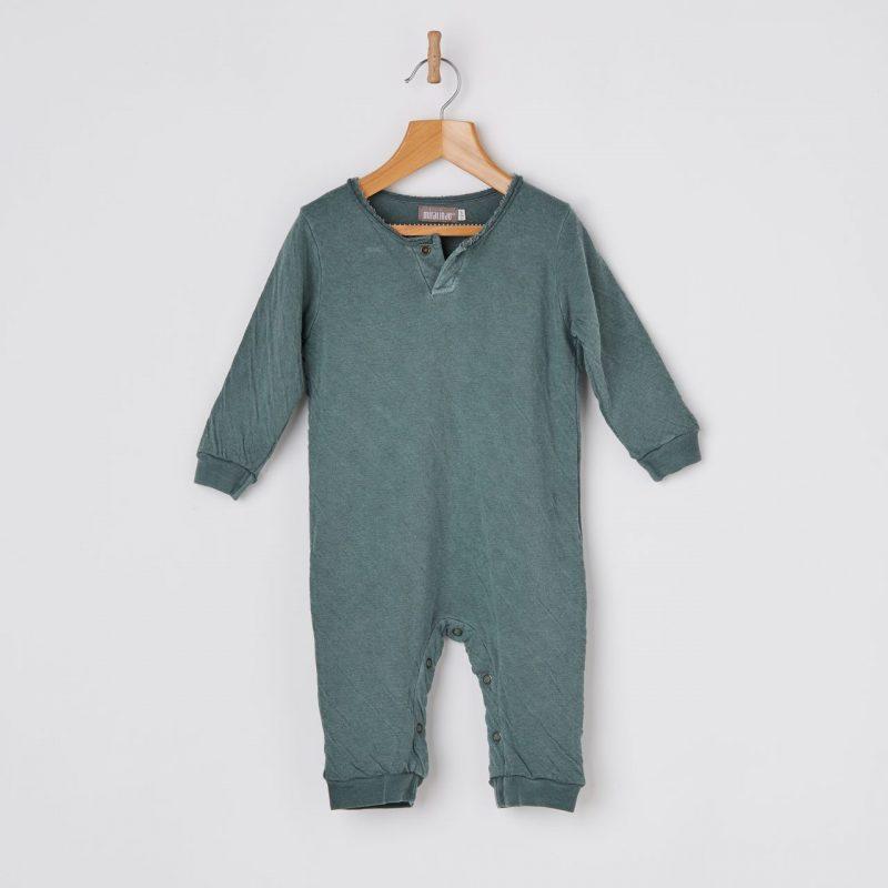 peto de bebé de 100% algodón color verde.