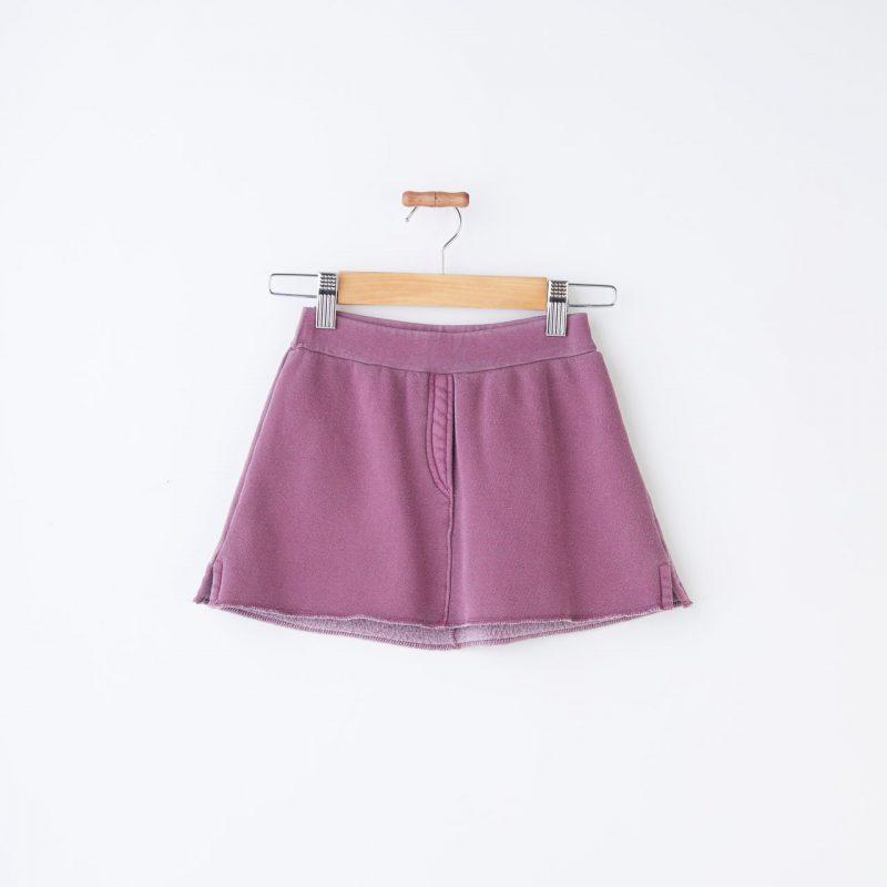 Minifalda de niña morada. Minifalda de felpa niña talla 4 a la 14 años.