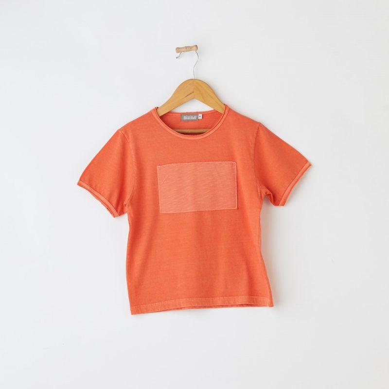 Camiseta algodón para niño talla 8 años. Camiseta Miralindo. Camiseta para niño talla 8 años. Camiseta original para niño. Camiseta de niño con parche. Camiseta color naranja. Camiseta color sol. Camiseta manga corta para niño talla 8 años. Camiseta fresca para verano. Camiseta cómoda y confortable.